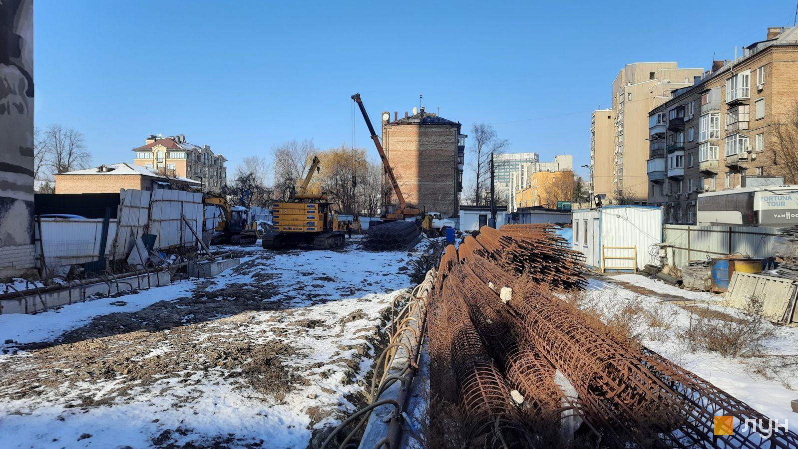 Ход строительства ул. Казимира Малевича, 44, 46, , январь 2021