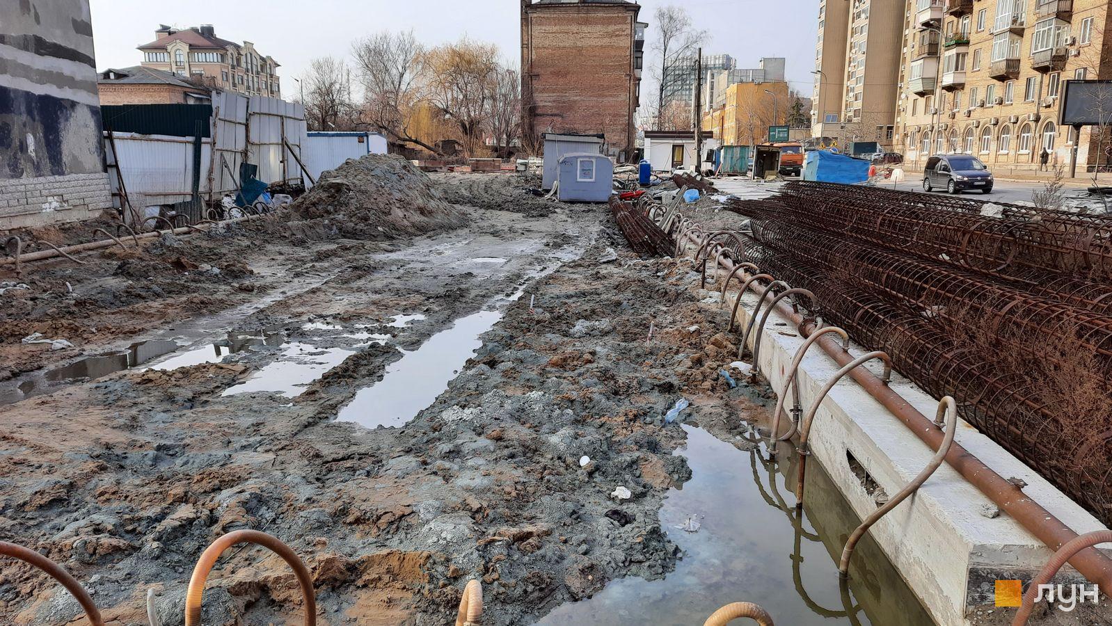 Ход строительства ул. Казимира Малевича, 44, 46, , март 2021