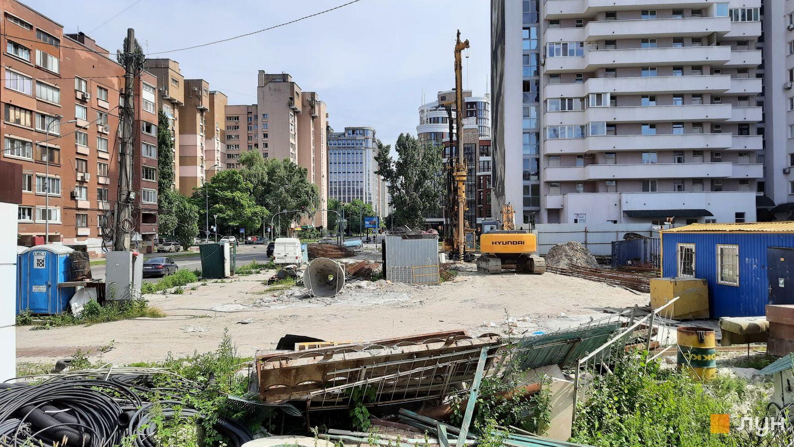 Ход строительства ул. Казимира Малевича, 44, 46, , июнь 2021