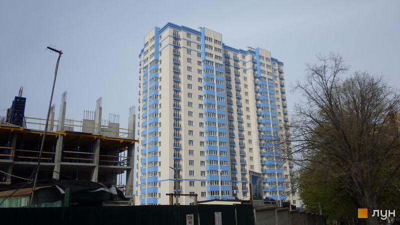 Ход строительства ЖК Демеевка, 1 дом, апрель 2017