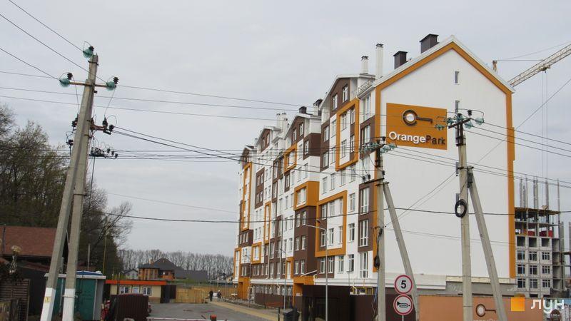 Ход строительства ЖК Orange Park, ул. Одесская, 23а (секции 1А, 1В), апрель 2017