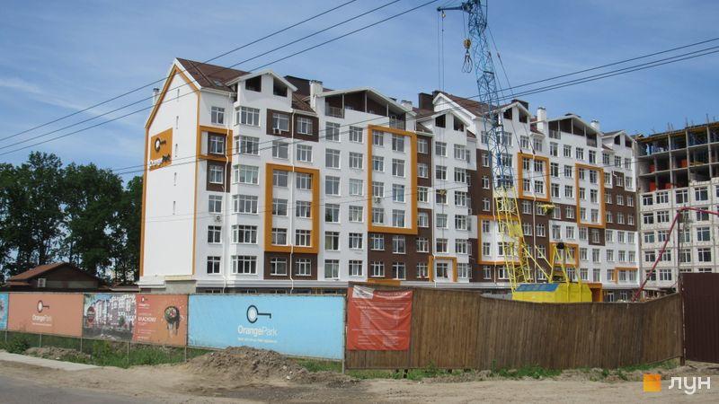Ход строительства ЖК Orange Park, ул. Одесская, 23а (секции 1А, 1В), май 2017