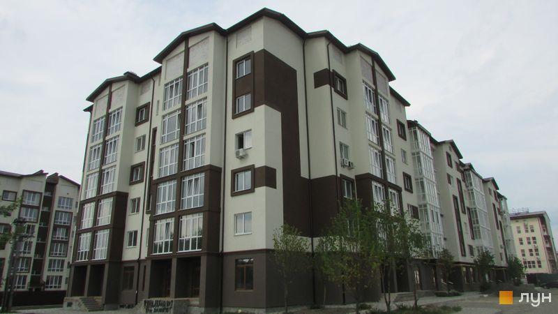 Хід будівництва ЖК Супутник-Теремки, 1 будинок (вул. Інститутська, 45, 47), липень 2017