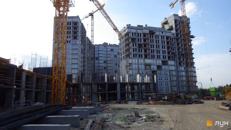 Хід будівництва ЖК Нивки-Парк, 1-2 будинки, липень 2017