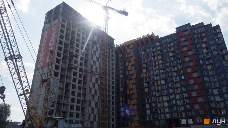 Ход строительства ЖК Champion City (Демеевский квартал), 1-3 секции, июль 2017
