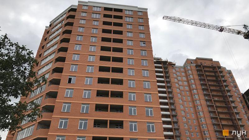Хід будівництва ЖК Дмитріївський, 1 будинок (секції 1-4), серпень 2017