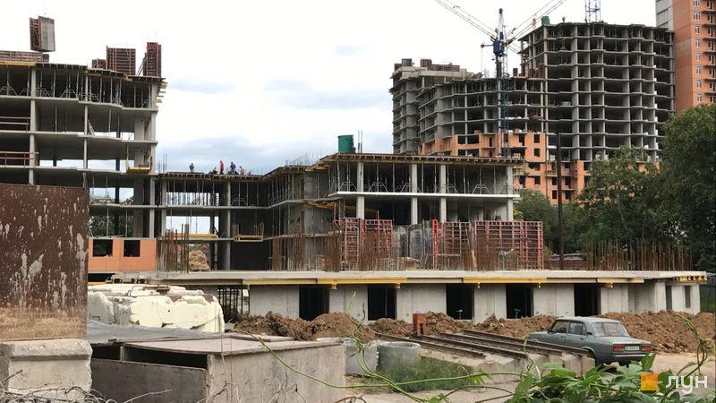 Хід будівництва ЖК Дмитріївський, 2 будинок (секції 3-4), серпень 2017
