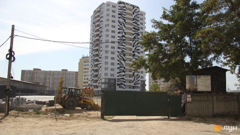 Ход строительства ЖМ Саванна Сити, 1 дом (корпус «Зебра»), сентябрь 2017