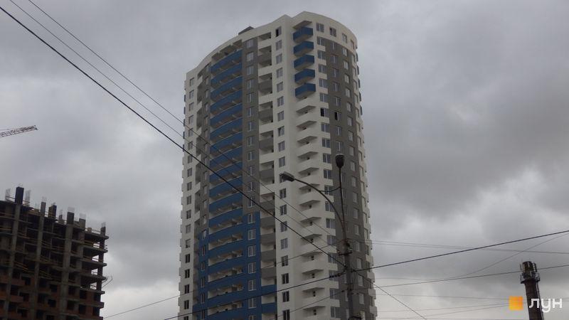Ход строительства ул. Горловская, 215а, 215б, 215в, Дом 1, октябрь 2017