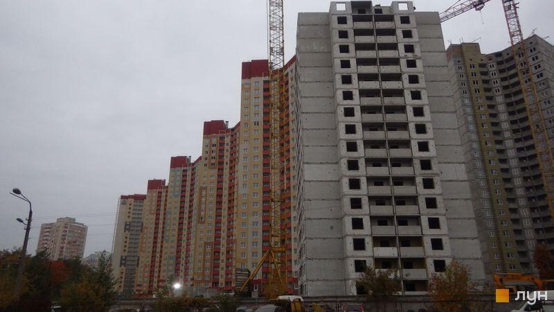 Ход строительства ЖК Эврика, Дом 13, октябрь 2017