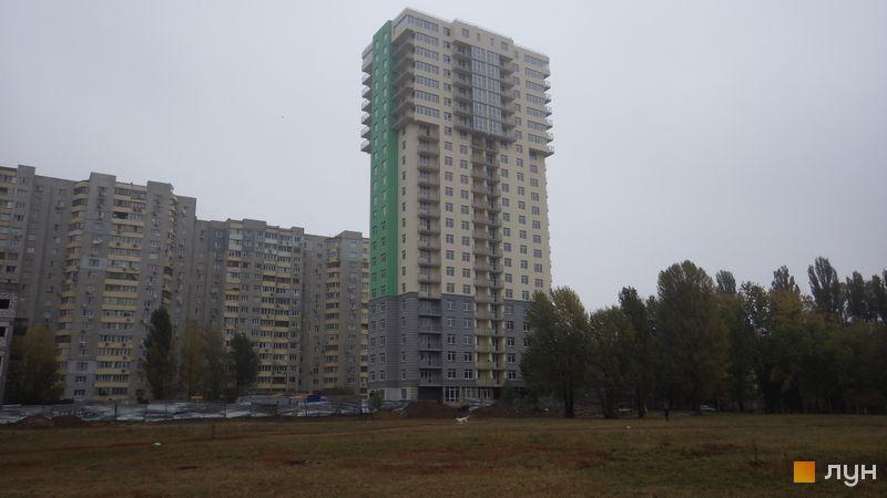 Ход строительства ЖК Столичные каштаны, Дом 1, октябрь 2015