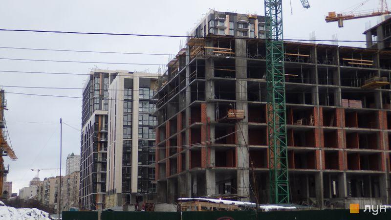 Ход строительства ЖК Французский квартал 2, 4 дом (ул. Предславинская, 57), декабрь 2017
