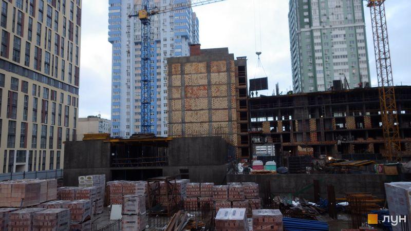 Ход строительства ЖК Малахит, 4 дом (секции 2-3), декабрь 2017
