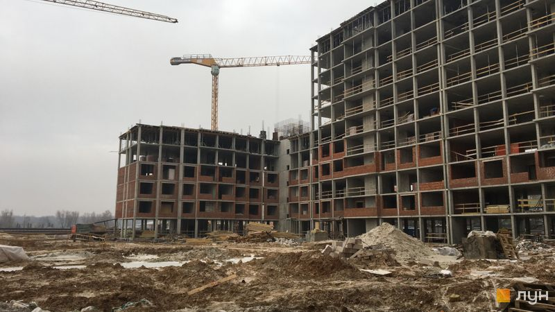 Ход строительства ЖК Новые Теремки, 2 очередь (дом 9), январь 2018