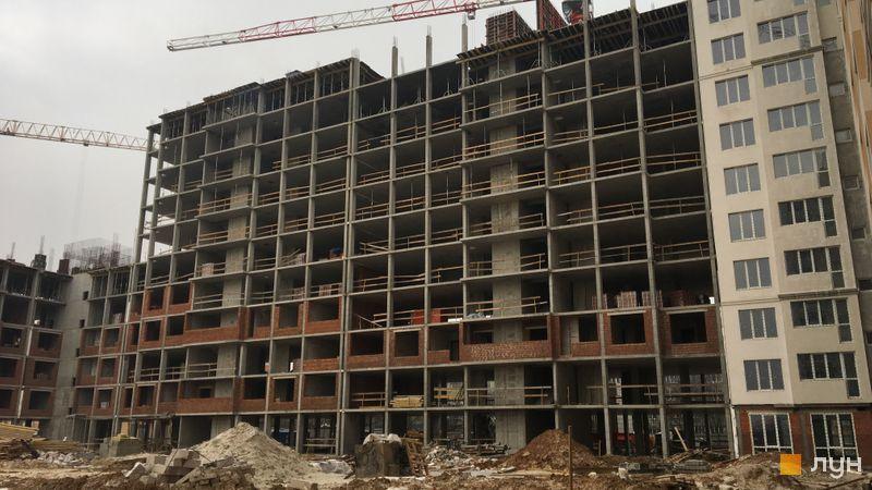 Ход строительства ЖК Новые Теремки, 2 очередь (дома 6-7), январь 2018
