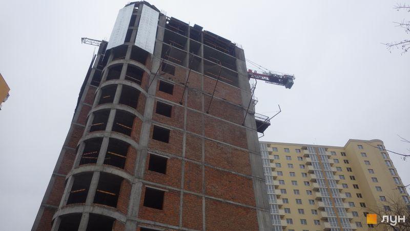 Ход строительства ЖК Новомостицкий, 5 секция, январь 2018