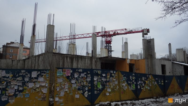 Ход строительства ЖК UNO City House, , январь 2018