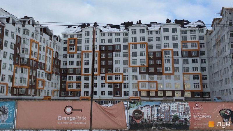 Ход строительства ЖК Orange Park, ул. Одесская, 23б (секции 1С, 1D, 1E), январь 2018