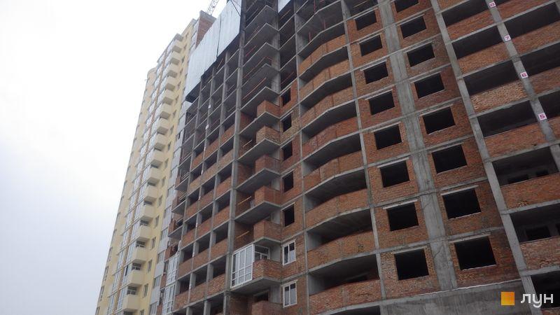 Ход строительства ЖК Новомостицкий, 3-5 секции, февраль 2018