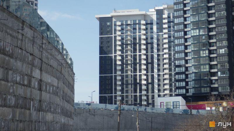 Ход строительства ЖК Заречный, 6 дом (секция 1), март 2018