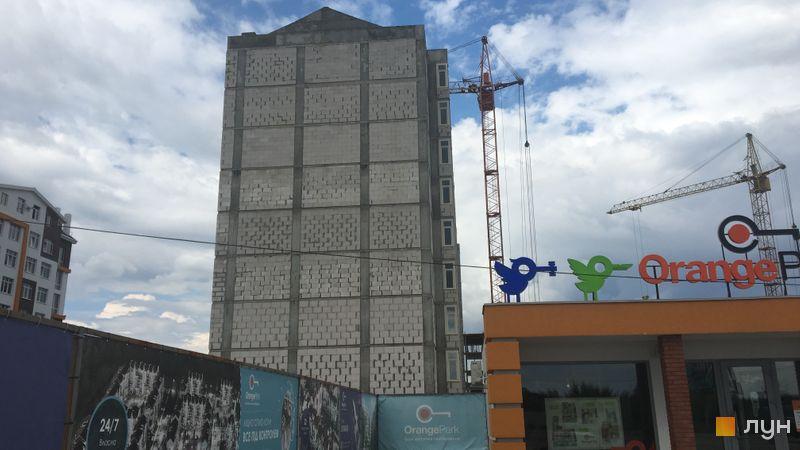 Ход строительства ЖК Orange Park, ул. Одесская, 25а (секция 2А), май 2018