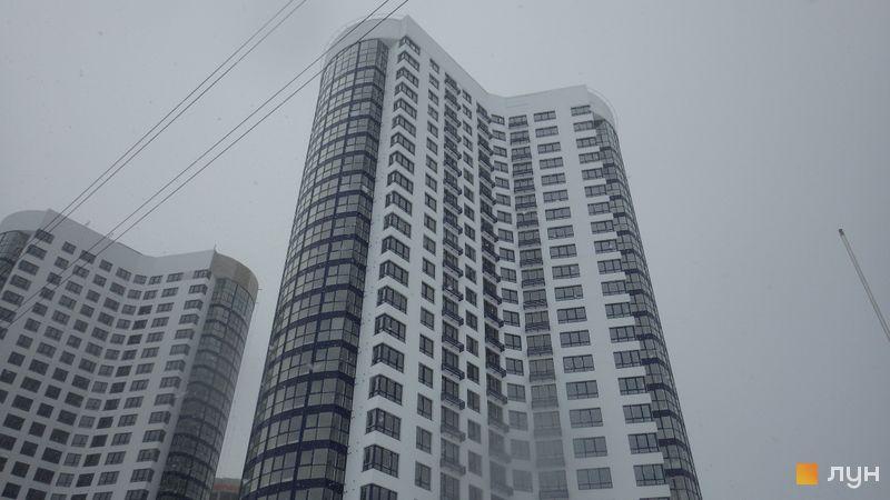 Ход строительства ЖК Заречный, 1 дом, январь 2016