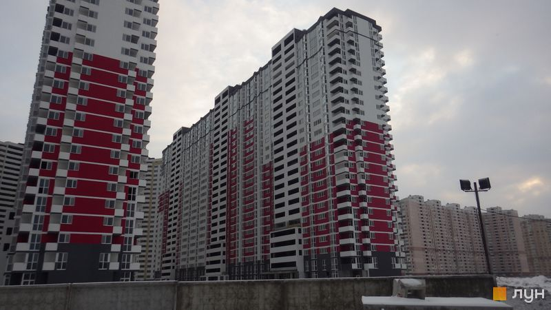 Хід будівництва ЖК Позняки-4а, 3 черга (вул. Драгоманова, 2б), січень 2016