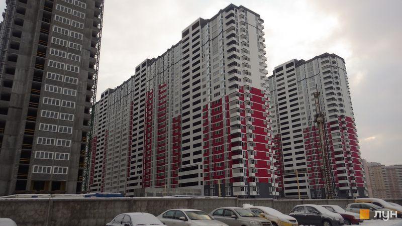 Хід будівництва ЖК Позняки-4а, 4 черга (вул. Драгоманова, 2а), січень 2016