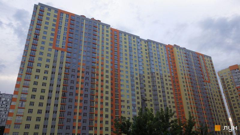 Хід будівництва ЖК Яскравий, 7 будинок (секції 1-2), липень 2018