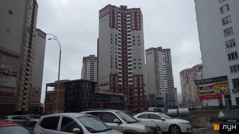 Хід будівництва ЖМ Патріотика, ЖБ Степовий (№6), лютий 2016
