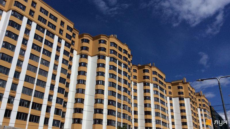 Ход строительства ЖК Счастливый на Петропавловке, 8 дом (ул. Бархатная, 20 а,б,в), июль 2018