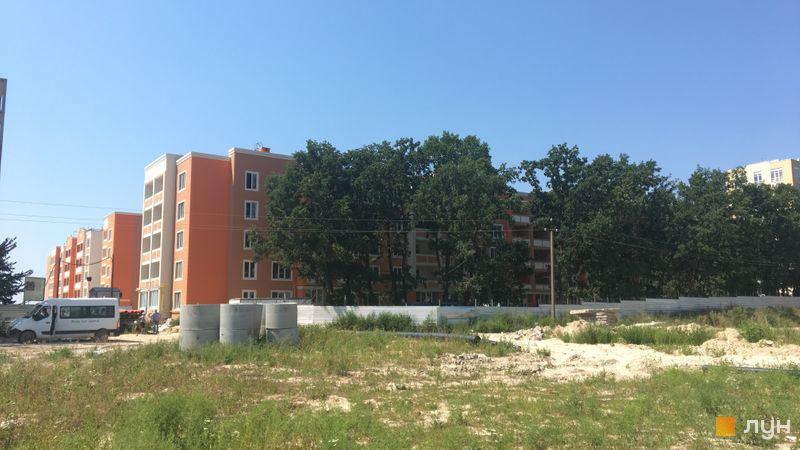 Ход строительства ЖК Петровский квартал, ПК-5. 1 очередь (ул. Леси Украинки, 16-16в), август 2018