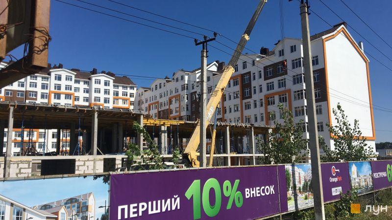 Ход строительства ЖК Orange Park, ул. Одесская, 23в (секции 1F, 1G), август 2018