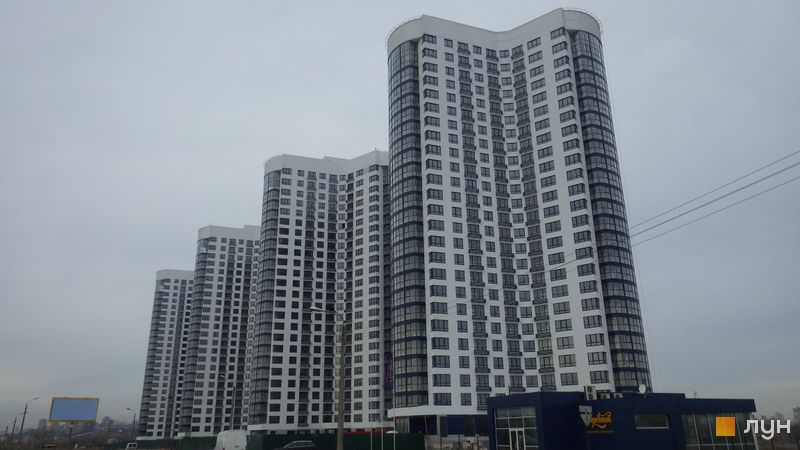 Хід будівництва ЖК Зарічний, 1-4 будинки, лютий 2016