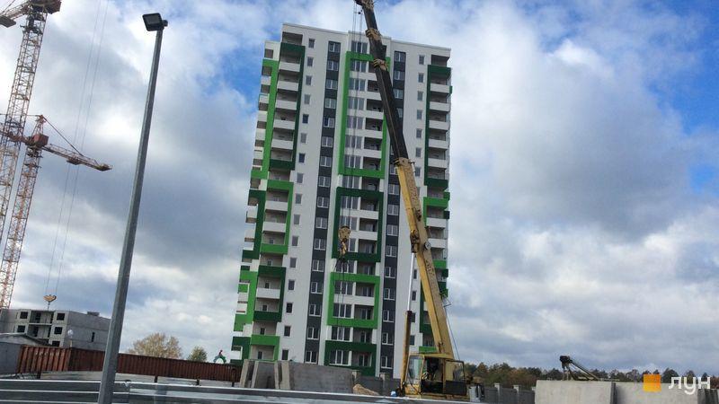 Ход строительства ЖМ Саванна Сити, 3 дом (корпус «Лиана»), октябрь 2018