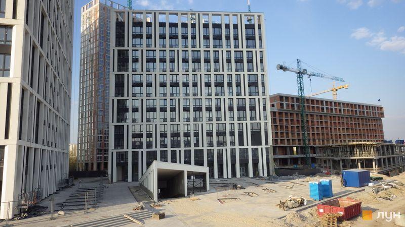 Ход строительства ЖК Славутич, 1 очередь (дом 2), апрель 2019