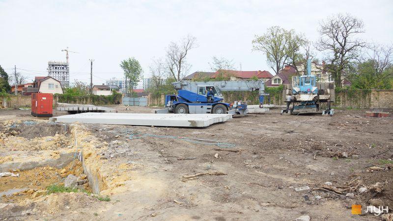 Ход строительства Клубный дом «Сапфир», , май 2019