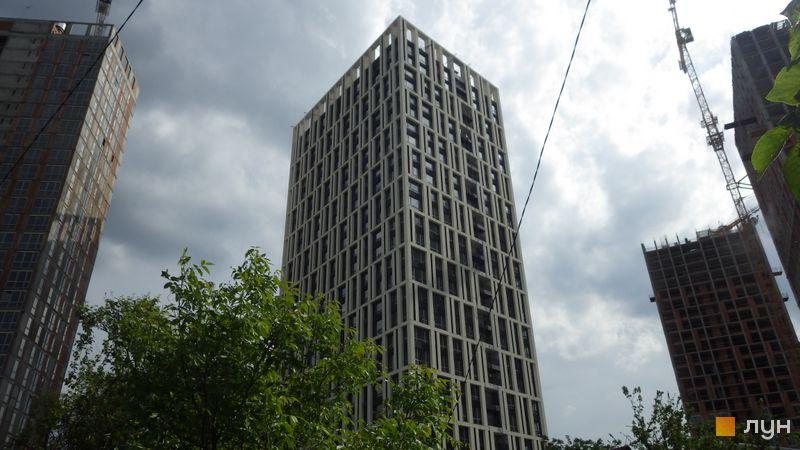 Ход строительства ЖК Славутич, 1 очередь (дом 1), май 2019