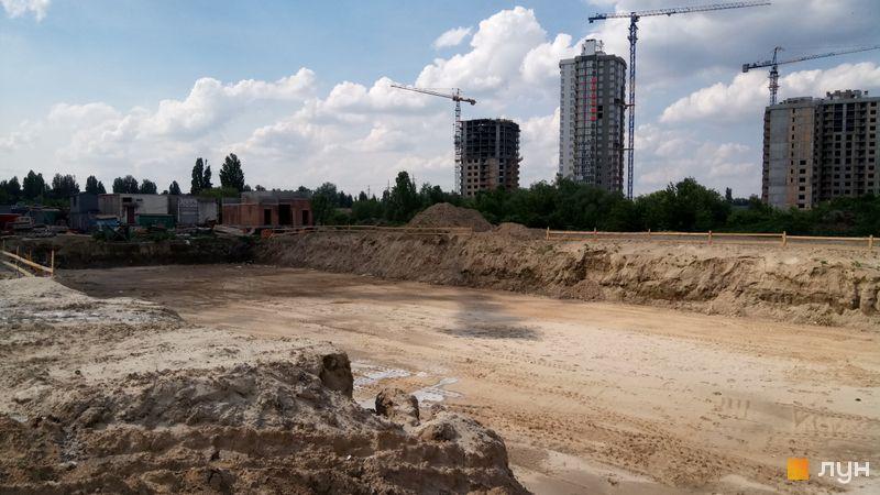 Ход строительства Місто Квітів. Парковий квартал, , май 2019