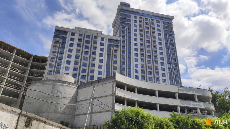 Хід будівництва ЖК Новопечерський Квартал №5, 1 будинок (секції 1, 2), червень 2019