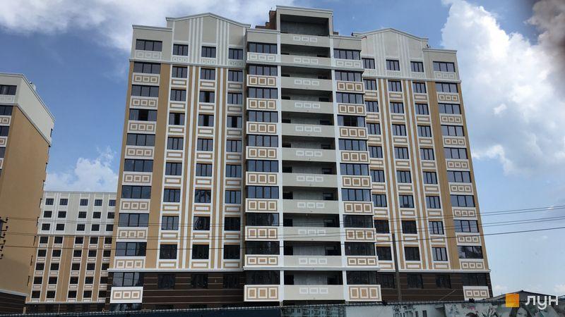 Ход строительства ЖК Квартал Крюковщина, 1 дом, июнь 2019