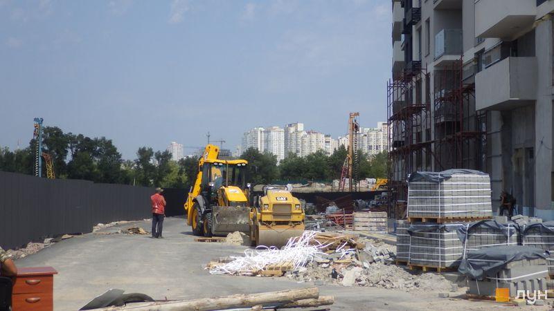 Ход строительства ЖК Заречный, , август 2019