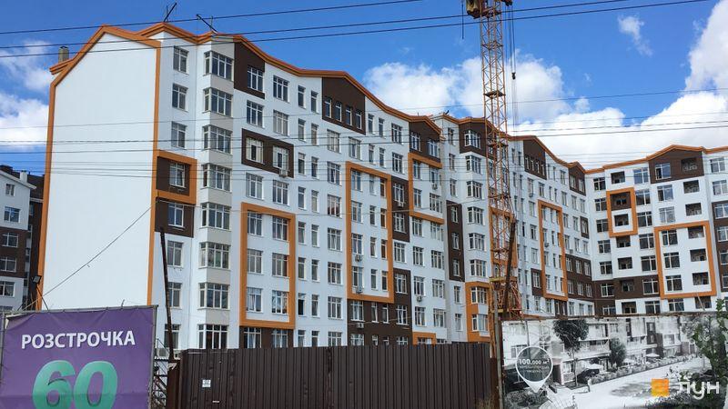 Ход строительства ЖК Orange Park, ул. Одесская, 25а (секции 2А, 2В), сентябрь 2019