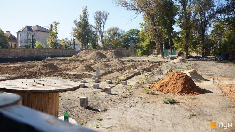 Ход строительства Клубный дом «Сапфир», , октябрь 2019