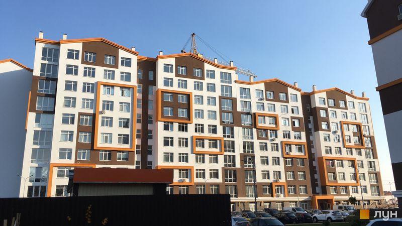 Ход строительства ЖК Orange Park, ул. Одесская, 25а (секции 2А, 2В), октябрь 2019