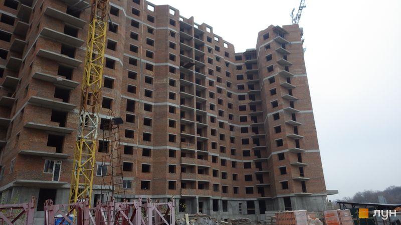 Хід будівництва ЖК Голосіївська Долина, 1 будинок (секції 8-9), листопад 2019