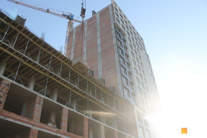 Ход строительства ЖК Вільне Місто, 1 дом, декабрь 2019