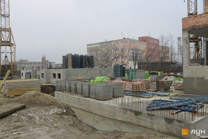 Ход строительства ЖК Resident Hall, 1-2 секции, январь 2020