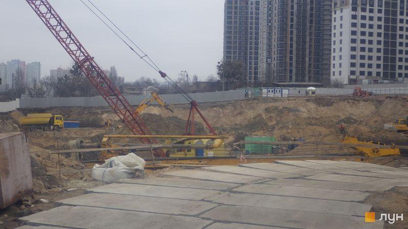 Ход строительства ЖК Fjord, , январь 2020