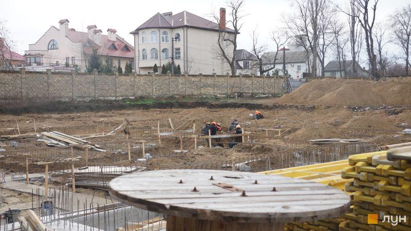 """Хід будівництва Клубний будинок """"Сапфір"""", , лютий 2020"""